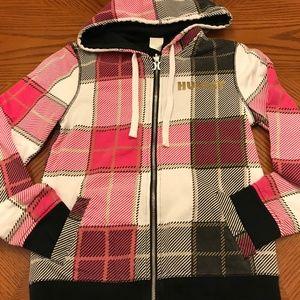 Hurley Reversible Sweatshirt Hoodie Black Pink S